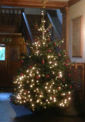 Christmas tree at St Andrew by the Wardrobe